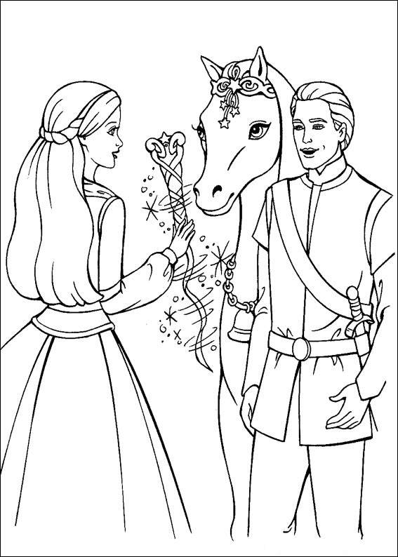 Barbie and The Magic Pegasus Coloring Printable 1