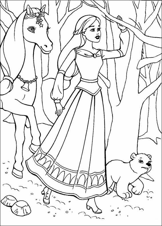 Barbie and The Magic Pegasus Coloring Printable 5