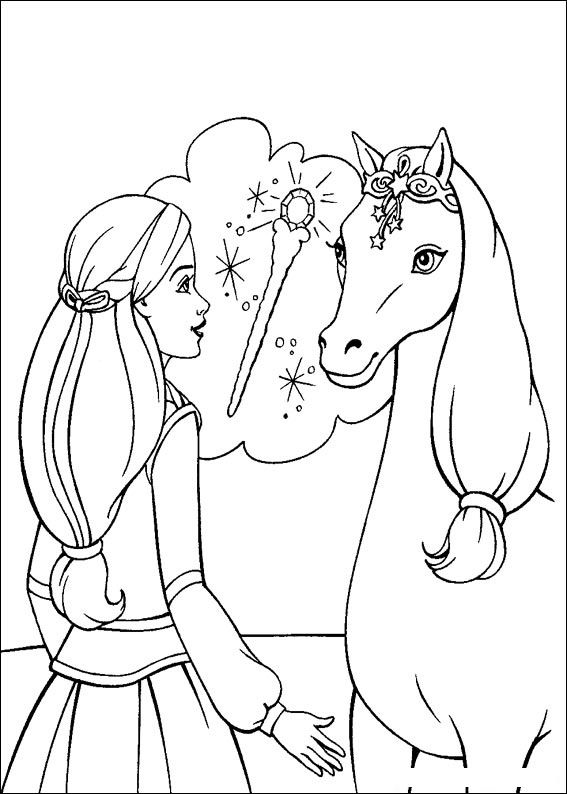 Barbie and The Magic Pegasus Coloring Printable 6