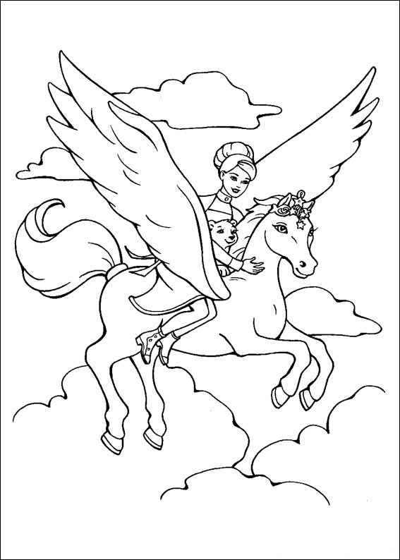 Barbie and The Magic Pegasus Coloring Printable 8