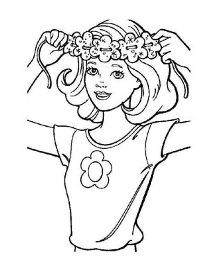 Barbie Coloring Pages 1
