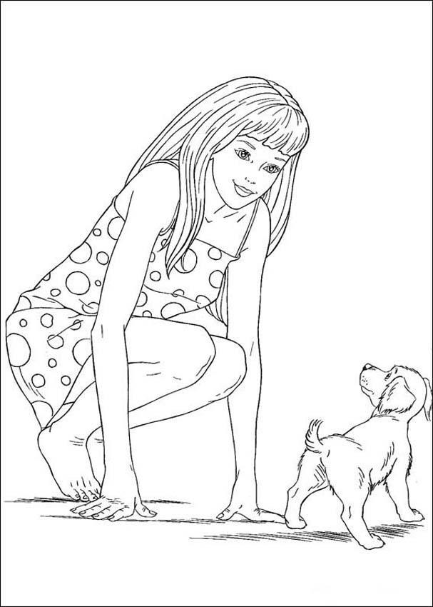 Barbie Coloring Pages 5