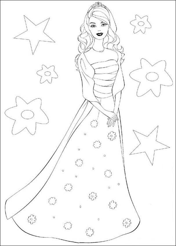 Barbie Coloring Pages 6