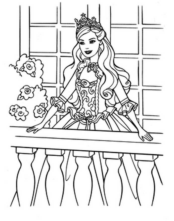 Barbie Coloring Pages 8