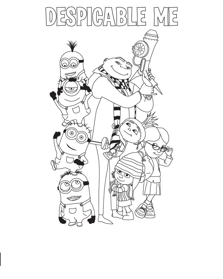 Despicable Me Coloring Printable 6