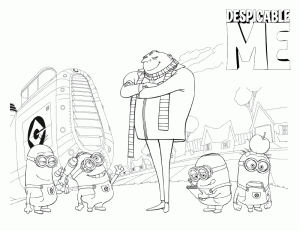 Despicable Me Coloring Printable 7