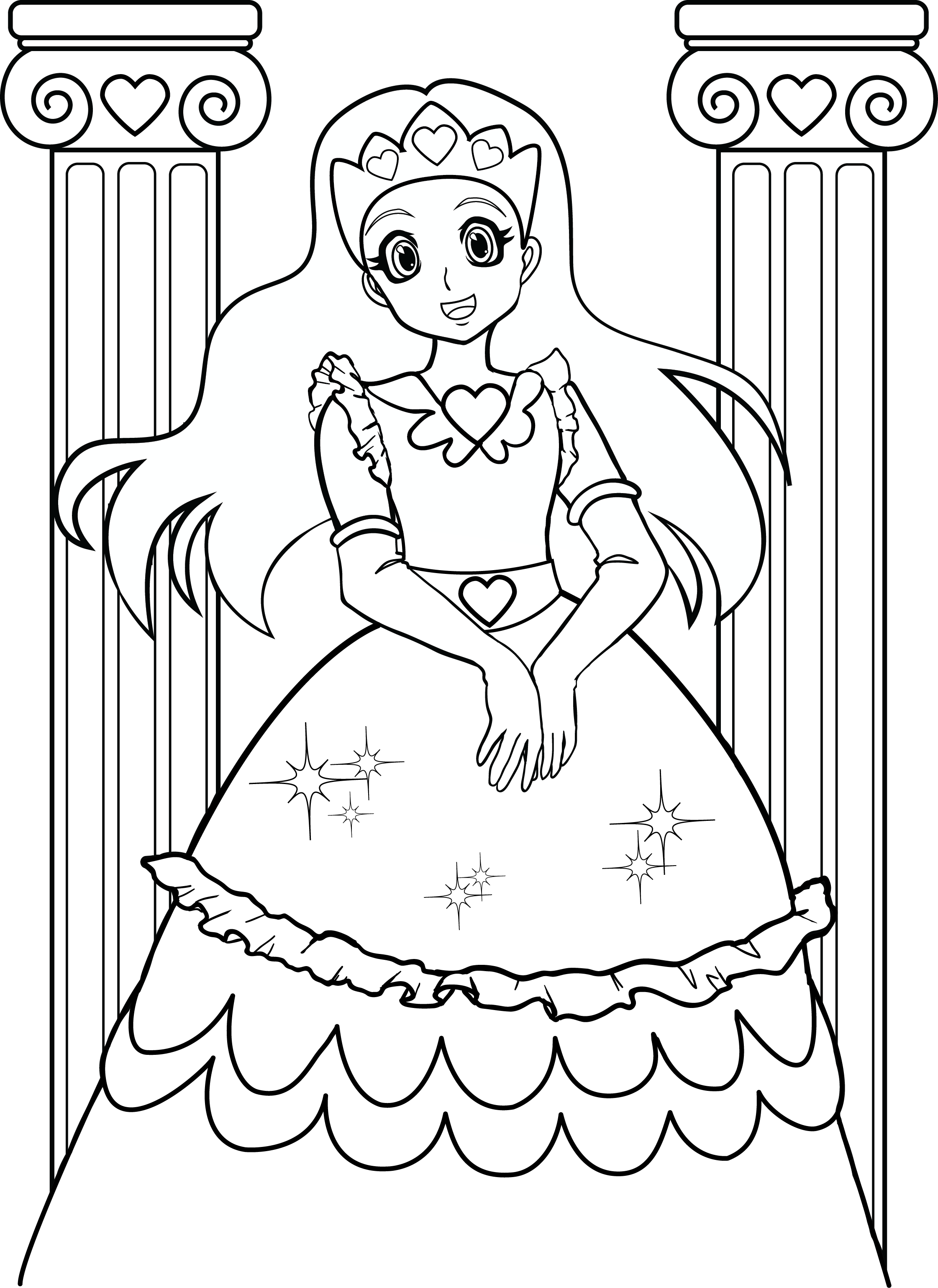 Coloring pictures to print for girls -  Printable Color Pages For Girls