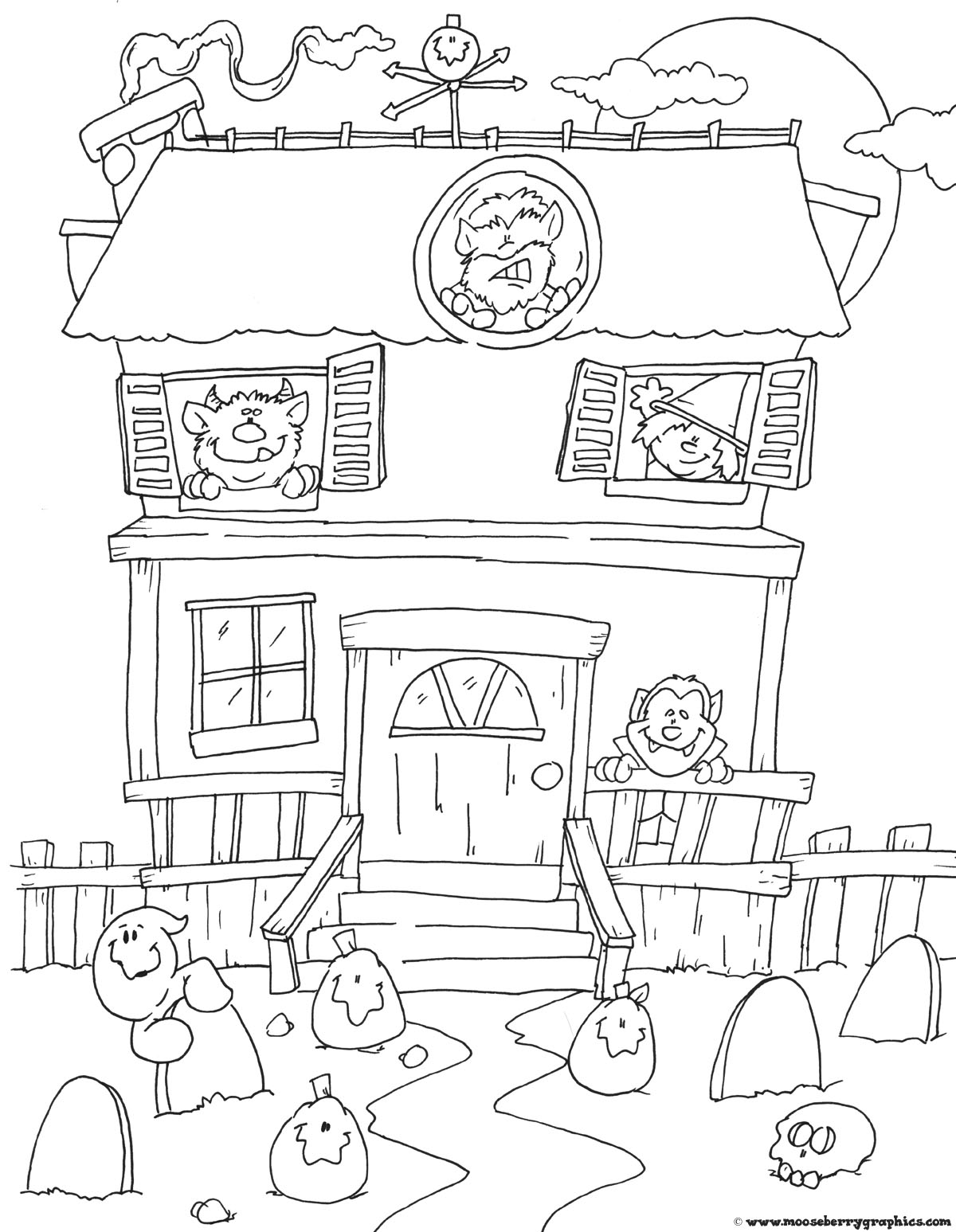 Printable Halloween Coloring Pages 1