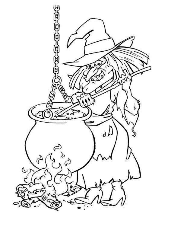 Printable Halloween Coloring Pages 8