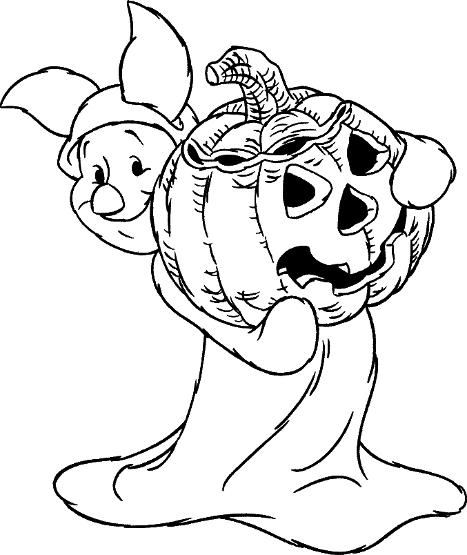 Printable Halloween Coloring Pages 9