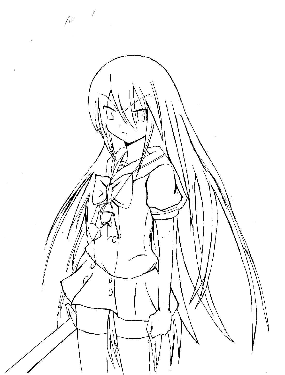 Shakugan No Shana II Coloring Printable 5
