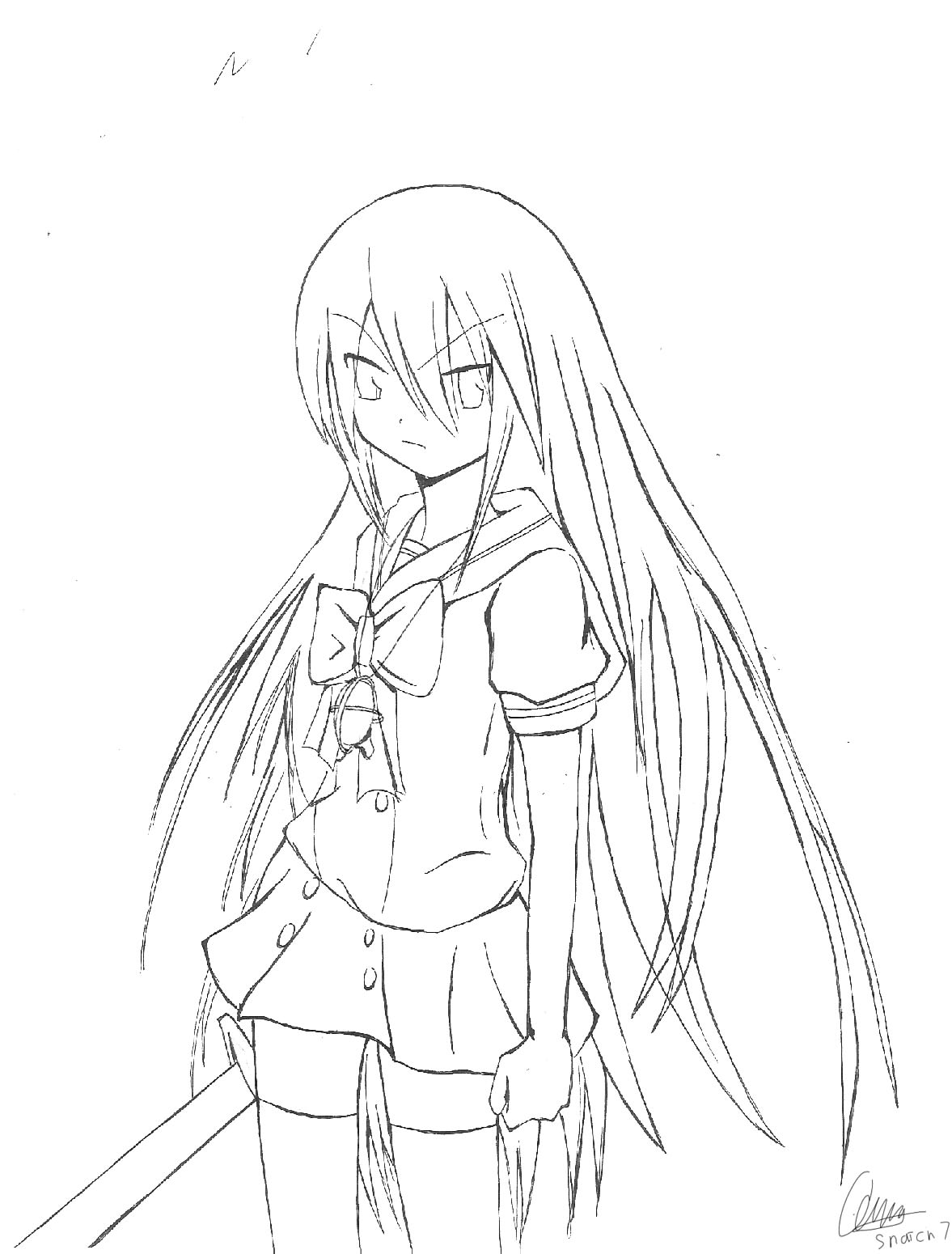 Shakugan No Shana II Coloring Printable 6