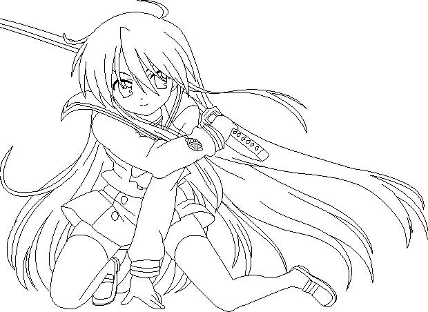 Shakugan No Shana II Coloring Printable 8