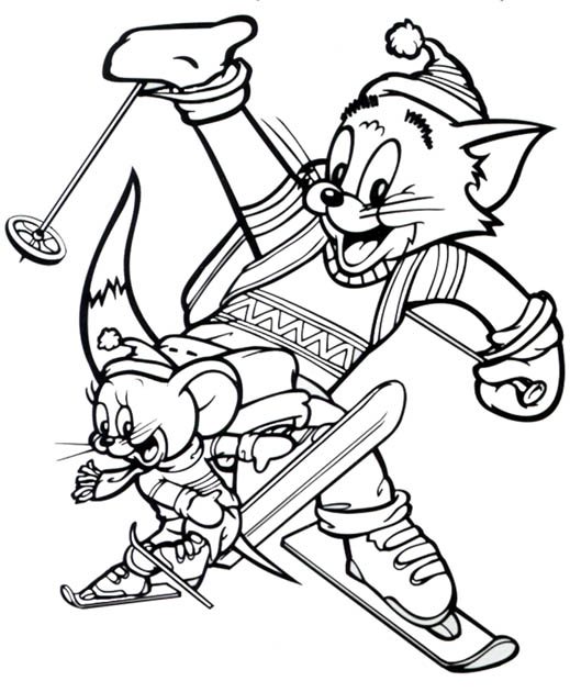 Tom and Jerry The Movie Coloring Printable 4
